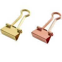 China Personalized novelty jumbo,large,small and mini printed gold custom metal book binder clips wholesale