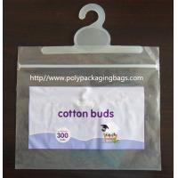 China Colorful Printed Cotton Buds Packaging Plastic Bag With Hook Hanger wholesale