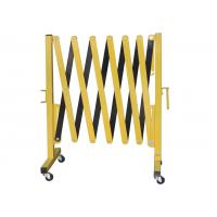 China Metal Expandable Barrier Gates , Portable Folding Safety Barrier With Casters wholesale