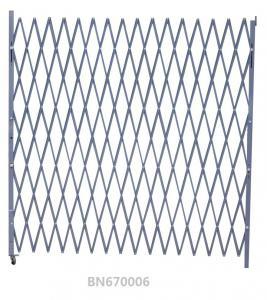 China Warehouse Entrance Swing Steel Folding Security Gates 7.5' Opening X 6.5' H wholesale