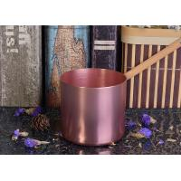 China OEM Tin Candle Holders 8oz Wax Filling Rose Gold Votive Metal Candle Jar wholesale