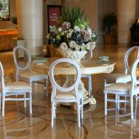 China Hot Sale cane back dining chairs resin louis chair china cadeiras white wedding chair on sale
