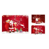 China 12 x 17cm 2 Images 3d Lenticular Photo Merry Christmas Greeting Card For Gift wholesale