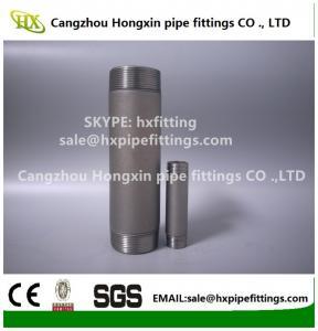 China Shot blasting Astm ANSI B1.20.1 carbon steel pipe nipple,barrel nipple,SCH40,SCH80 wholesale