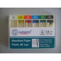 China Dental Absorbent Paper Points/GAPADENT,ISO .02 Taper Depth mm Marked paper point / Dental Absorbent Paper Points on sale