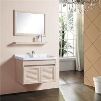China Wooden Grain Bathroom Sinks And Vanities Fire Proof Anti Corrode With 780mm Shelf wholesale