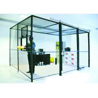 China 2 Sides Wire Mesh Security Partitions Lockable Storage Cages Powder Coated wholesale