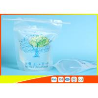 Buy cheap Zip Lock Pouch Bags Stand Up Ziplock Bags , Printed Juice Pouches With Hanging Holes from wholesalers