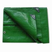 China green color pe tarpaulin for hay tarps and trailer cover wholesale