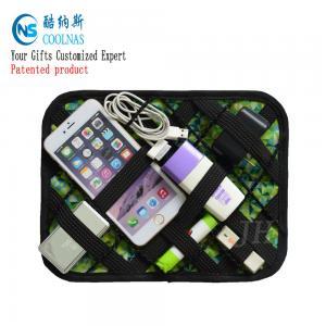 China Custom Nylon Electronic Travel Grid It Organizer Multi Color 35*14 Cm wholesale