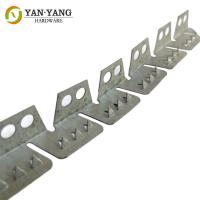 China China Manufacturer Metal Curved 2 Holes Flexible Upholstery Back Tacking Strips wholesale