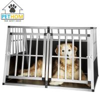 China XXL Dog Cage Transport Partition Box Crate Dog Carrier 2 Door Puppy Training ZX104B1 wholesale