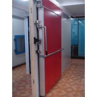 China 100mm door leaf with 0.5mm colored steel / Insulated PU Panel Sliding Door for Cold Room on sale