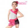 China Children'S Dance Costumes Black Polka Dots Top Biketard Ballet Dance Costume wholesale