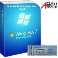 China Windows 7 Professional Pro COA Product Key Sticker OEM online Activation wholesale