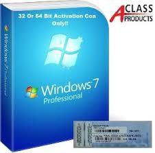 China Windows 7 Professional Pro COA Product Key Sticker OEM online Activation wholesale