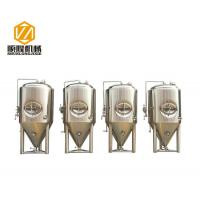 China 1200L Beer Fermentation Tanks , Stainless Steel Double Jacket Tank Fermenter With Dry Hopping wholesale