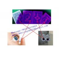Buy cheap Modiano Cristallo blue plastic marked cards for uv contact lenses/invisible ink from wholesalers