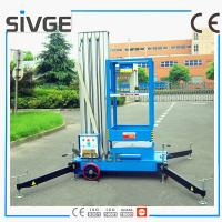 Quality 10m Single Mast Blue Aerial Working Platform Aluminium Alloy With 120kg Load for sale
