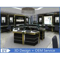 China Custom Made Mirror Black Glass Jewelry Display Cases / Retail Jewellery Display Cabinets wholesale