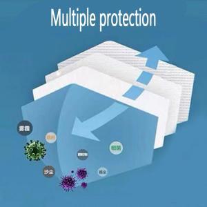 China Blue White N95 Respirator Mask Prevent Flu Hypoallergenic Skin Friendly wholesale