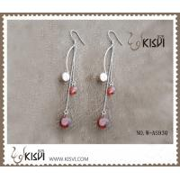 China 925 Sterling Silver Gemstone Earrings with Zircon W-AS930 Plating With Gold Or Rose Gold wholesale