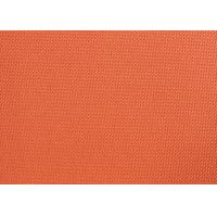China Orange Dyed PVC Coated Polyester Fabric Waterproof For Suitcases wholesale