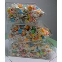 Quality Acrylic Candy Display Cases ,3 Tier Stackable Bins With Scoop Holder for sale
