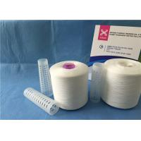 China High Tenacity Z/S Twist Raw White Yarn 100% Polyester Sewing Thread wholesale
