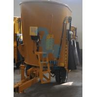 China Durable Upright Cow Feed  Mixer Wagon With Augers Electric Motor wholesale