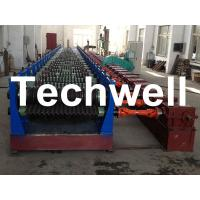 China Automatic 4 - 8m/min Galvanized Steel Silo Corrugated Wall Sheet Roll Forming Machine wholesale