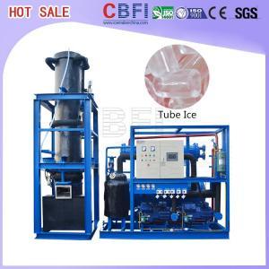 China 1000 Kg - 30000 Kg Ice Tube Machine Maker Large Daily Capacity wholesale