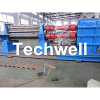 China 3 - 6mm Corrugation Rolling Machine With 45kw Motor and PLC Control Box wholesale