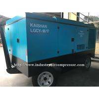 China High Efficiency Diesel Driven Industrial Screw Compressor , Large Portable Air Compressor on sale