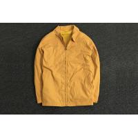 Buy cheap Classic Durable Yellow Polyester Coat Jacket Oversize / Men's Casual Jackets from wholesalers