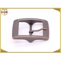 China Plain Design Brass Plated Metal Belt Buckle , Central Bar Buckle with Pin wholesale