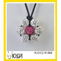 China Elegant designs silver & pink shamballa handcrafted crystal jewelry beads necklace wholesale