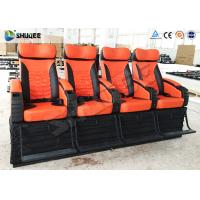 China 4 Seat Per Set 4D Movie Theater Cinema Equipment Customize Color Motion Chairs wholesale