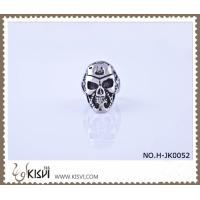 China Hot Sell #8 / #10 316l Stainless Steel Death's - Head Ring H-JK0052 wholesale