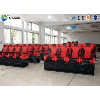 China Large 4D Movie Theater Long Movie Pneumatic System Chair With Cup Holder wholesale