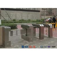 Quality Bar Code Waist Height Turnstiles Stainless Steel 25~30 Persons / Min Passing Speed for sale
