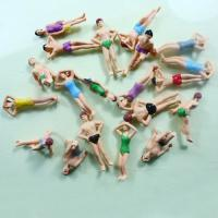 Buy cheap HO Scale 1:75 Painted Architectural Scale Model People Beach Swimming Figures Vary Pose product
