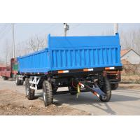 China hot sales 4 wheel 10 ton tandem axle agriculture farm tractor dump tipping trailer wholesale