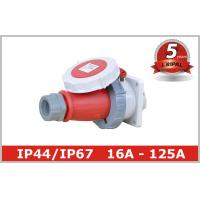 China CEE Single Phase Industrial Electrical Sockets And Plugs 63 Amp wholesale