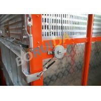 China Q235 / Q345 Steel Car Cage Hoists For Building, 380V 50Hz Or 60Hz Power wholesale