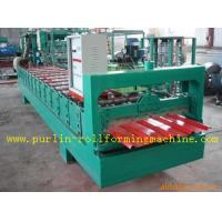 China High Speed Glazed Tile Cold Roll Forming Machine 0 - 20 m/min Red Roofing Panel or Customized wholesale