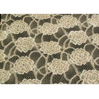 Buy cheap Eco-Friendly Brushed Lace Fabric Yellow  product