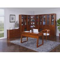 China Nanmu solid wood Home office study room furniture set by Tall storage bookcase cabinet and office reading desk Chair wholesale