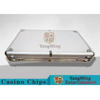 Aluminum Carrying Case For Casino Poker Chip Set  Metal Poker Chip Box For 600pcs