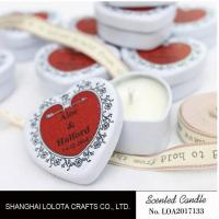 China Heart Shaped Travel Tin Soy Candles With Red Printing Logo / One Cotton Wick wholesale